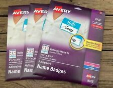 Avery Adhesive Name Badge Labels 2 13 Width X 3 38 160pack Rect R4095