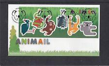 GB 2016  Animail MS animals koala monkey bat RM FDC Edinburgh Koala Bear sp pmk