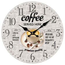 OROLOGIO da PARETE COFFEE CAFFE bar ristoranti locali cucina rotondo CM 34
