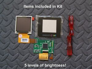 For Nintendo Gameboy Color console High Light GBC LCD Screen Modification Kit