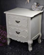 Table De Nuit Chevet Avec Tiroirs Commode Style Louis Retro Vintage Blanc