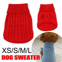 2020 Pet Dog Warm Clothes Coat Apparel Jumper Sweater Puppy Cat Knitwear Costume