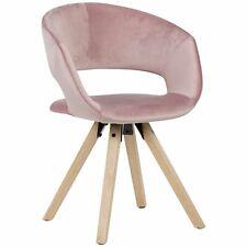 WOHNLING Esszimmerstuhl Rosa Samt 110kg Küchenstuhl mit Lehne Stuhl Stoff Modern