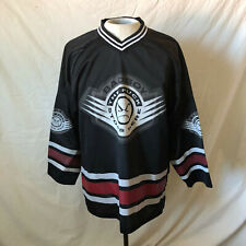 Vintage 90s Bad Boy Club Hockey Jersey Large Black Vtg Made in Usa