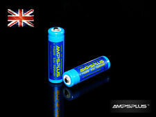 2 x 14500 3.2V Battery 500mAh IFR Lithium LiFePO4 AA Li-Ion UK Solar Lights LED