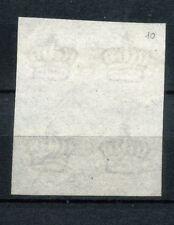 1863 Regno De La Rue Saggi Saggio Prova di filigrana quartina certificata