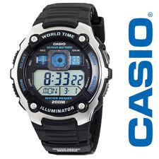 Casio For Men Watches AE2000W-1AV Silver-Tone Black Digital Sport Waterproof