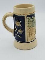 Vintage Stein Mug Western Germany Garmisch Partenkjrchen Glazed Stoneware 5 inch