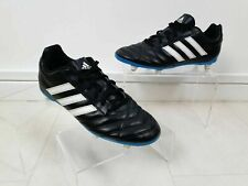 Adidas Black With Blue Sole Football Boots Trainers Boys Size UK 5