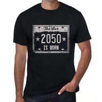 The Star 2050 Herren T-shirt Schwarz Geburtstag Geschenk