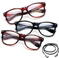 Retro Horn Rimmed Frame Spring Hinge Classic Retro Reading Glasses  Vintage Read