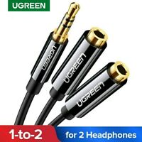 UGREEN 3.5mm Audio Stereo Y Splitter Cable Adapter Male to 2 Female for Headset