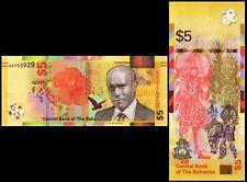 BAHAMAS 5 DOLLARS 2020 P NEW UNC