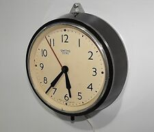 Vintage 50s Smiths Bakelite Electric Wall Clock Fantastic Condition & Working