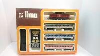Lima HO Train DB Deutsche Bahn Powered Diesel Locomotive & Passenger Car Set NIB