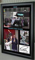 Lewis Hamilton Framed Canvas Print Signed