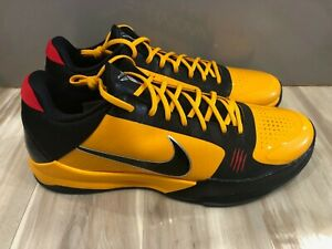New Men's Nike Kobe 5 Protro Bruce Lee Basketball Shoes Yellow CD4991-700 Sz 18