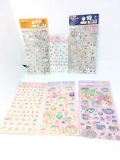 Rare Sanrio Original 1976 Little Twin Stars Kiki Lala 6 Sheets Lot Stickers