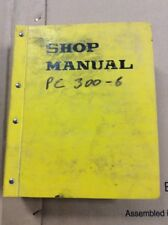 OEM Komatsu PC300LC-6 PC300HD-6 Hydraulic Excavator Shop Service Repair Manual