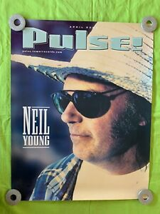 """Neil Young """"Pulse"""" POSTER 2002 Tower Records Poster 22x18"""