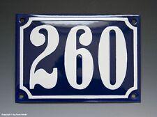Emaux, E-Mail-numéro de maison 260 in bleu/blanc pour 1955