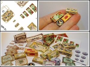 dolls house printed KIT - Soap Boxes No2 Miniature 1/12th