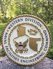 Vintage NAVFAC Naval Facilities Engineering Command Western Division Plaque Sign