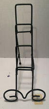 """3 tier plate stand Wrought Iron NWT """"A"""""""