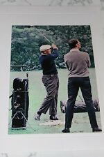 """BEN HOGAN WITH GEORGE KNUDSON MASTERS DRIVING RANGE PHOTOGRAPHIC IMAGE 5"""" X 7"""""""