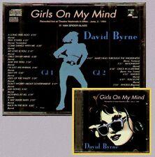 "DAVID BYRNE "" GIRLS ON MY MIND "" 2 CD SIGILLATO (GIUGNO 1994 MILANO)  RARO"
