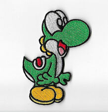 Yoshi Patch Embroidered Iron on Badge Dino Costume Super Mario World Stars Kart