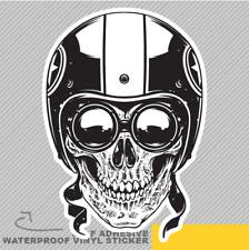 Skull Motorbike Helmet Gangster Bad Vinyl Sticker Decal Window Car Van Bike 2102