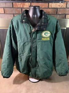 Vintage 90s Starter Green Bay Packers NFL Football Puffer Jacket Mens XL Flannel