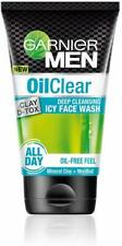 Garnier Men Oil Clear Clay D-Tox Deep Cleansing Icy Face Wash EACH PACK 100 GRAM