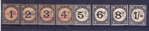 """1923-45 Trinidad """"Postage due stamp, Specimen""""  filigrana CA multiple."""