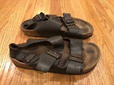 Birkenstock Back Strap Sling Sandals Sz 38 Women's 7 Arizona Brown Leather Worn