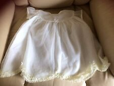 Vintage,baby, white nylon dress short sleeves,lined, ideal for 1960's meeting