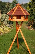 Vogelhaus von klein-mittel-XXL, wahlweise mit Ständer und Solarbeleuchtung V18