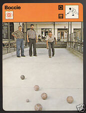 BOCCIE Boule Italy Swiss Game Sport 1978 SPORTSCASTER CARD 28-02