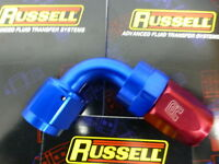 Russell 610160 Full Flow Swivel Hose End Fitting 90 degree AN6  # 6 6AN Red Blue