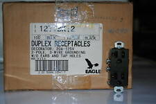 Eagle Black Decora Duplex Receptacles #1277BK