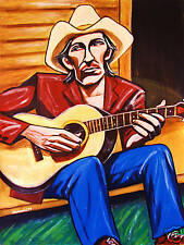 TOWNES VAN ZANDT PRINT poster martin guitar for the sake of song cd troubadour