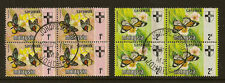 SARAWAK (Malaysia) :1971 Butterflies 1c & 2c  SG 219-20  used  blocks of four