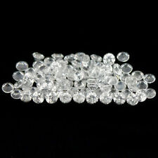 10.75 Carats 80PCS 2.6-2.7MM Natural WHITE ZIRCON Cambodia for Jewelry Setting