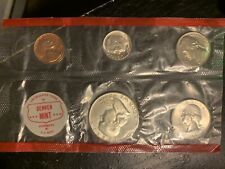 1963 Denver US mint Uncirculated Set Of 5 Coins In Cello