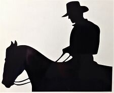 Cowboy On Horse Decal Sticker Outdoor Quality Vinyl Any Colour Buy 2 Get 1 Free