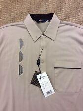 Men's GABICCI Medium Almond Beige Polo Shirt New