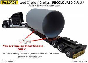 Curved CHOCKS / CRADLES / BEARERS for 50 mm Diameter Model Load N, HO, OO Scale