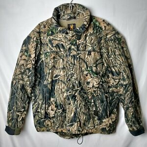 Browning Men L Gore-Tex Hydro Fleece Camouflage Camo Tree Stand Heavy Jacket