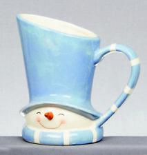 Navidad Vajilla cerámica azul y blanco muñeco de nieve Jarra NUEVO